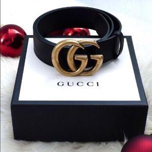 cNew Gucci Belt Âùthentíć Double G Marmot